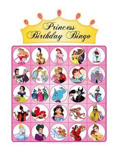 Free Disney Princess Bingo game with 10 unique game boards (free PDF printable) Princess Bingo, Princess Birthday Party Games, Disney Princess Party, Birthday Games, Birthday Party Themes, Birthday Ideas, 5th Birthday, Princess Crafts, Cinderella Party