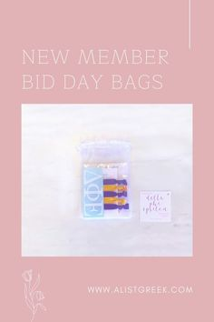 Celebrate your new members this recruitment with the Newbie Love bundle! Gift bag includes a sorority decal, hair tie set, and button set. Delta Phi Epsilon Gift Bags   Delta Phi Epsilon Bid Day   DPhiE New Member Gifts   Delta Phi Epsilon Recruitment   Sorority Bid Day   Sorority Recruitment   Bid Day Bags   Sorority New Member Gift Ideas #BidDayGifts #SororityRecruitment Alpha Epsilon Phi, Alpha Chi Omega, Sorority Bid Day, Sorority Recruitment, Bid Day Gifts, Letter Decals, Bid Day Themes, Alpha Sigma Alpha, Tie Set