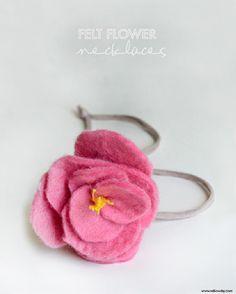 make felt flower necklaces | willowday