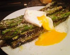ASPARAGUS PARMESAN AND POACHED EGG photorecipe by Adam Arnold - Cookbooth
