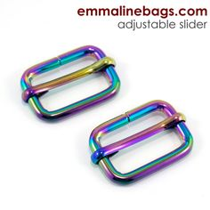 "Adjustable Sliders: 1"" (25 mm) in IRIDESCENT RAINBOW (2 Pack)"