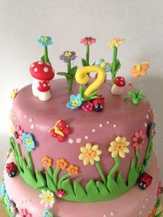 Fairy garden cake fairy birthday cakes pinterest for Fairy garden birthday cake designs