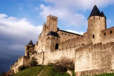 the impressive medieval city carcassonne, france