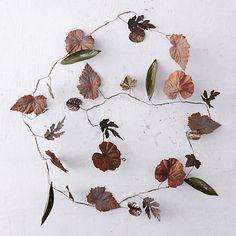 Pressed Metal Leaf Garland