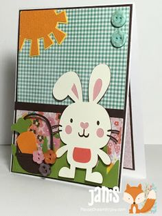 Cricut card using Create A Critter, Doodlecharms, and Easter 2010