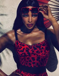 Naomi Campbell for Dolce & Gabbana Eyewear Animalier Collection S/S 11