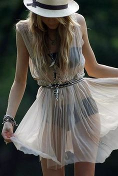 flowing pretty and sheer