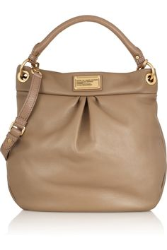 Marc by Marc Jacobs   The Classic Q Hillier Hobo textured-leather shoulder  bag   37c3559d2f