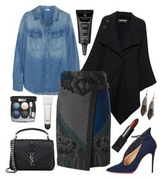 """""""10.11.2015"""" by chrissy6 ❤ liked on Polyvore featuring Splendid, Roland Mouret, Etro, Christian Louboutin, Yves Saint Laurent, Chanel, MAC Cosmetics, Kenneth Cole and NARS Cosmetics"""