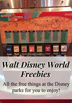 Walt Disney World Park Freebies, Disney Tips, Free things at Disney, WDW