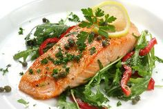 Salmon with Lemon, Capers, and Rosemary