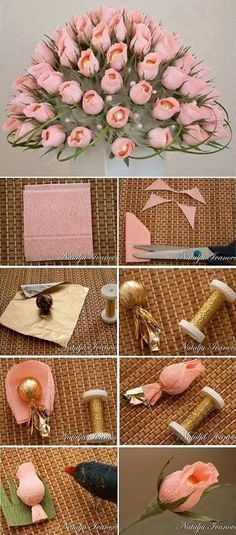 Chocolate Flower Bouquet – DIY Bouquet of chocolate chocolates Flower Bouquet Diy, Diy Flowers, Fabric Flowers, Paper Flowers, Candy Bouquet Diy, Rose Flowers, Felt Flowers, Pink Roses, Homemade Gifts