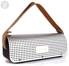 Karnotech REMAX Bluetooth Speaker Portable Desktop Multi-Function Power Bank Bluetooth 4.0 Wireless Outdoor PC Car Subwoofer Speakers, RB-HI Silver (*Amazon Partner-Link)