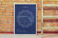 Silkscreen Print: Map I – The Northern Sky..