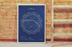Silkscreen Print: Map I – The Northern Sky..