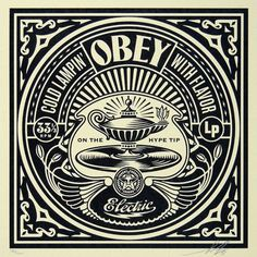 Shepard Fairey 50 Shades of Black Box Set: Cold Lampin, Silkscreen on paper 12 x 12 in. x cm) Edition of Signed and numbered. Comes with COA. Obey Prints, Shepard Fairey Art, Shepard Fairy, Graphic Design Illustration, Illustration Art, Cool Poster Designs, Obey Art, Propaganda Art, The Embrace