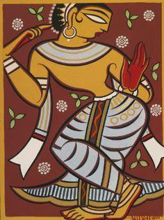 Jamini Roy - 108 Artworks, Bio & Shows on Artsy Indian Folk Art, Indian Artist, Worli Painting, Painting Styles, Fabric Painting, Jamini Roy, Madhubani Art, Madhubani Painting, India Art