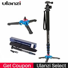 Ulanzi Professional Aluminium Camera Tripod 65inch 5 Sections Manbily Video Monopod for Canon Nikon DSLR Gopro 6 Action Camera  Price: 33.99 & FREE Shipping #computers #shopping #electronics #home #garden #LED #mobiles #rc #security #toys #bargain #coolstuff |#headphones #bluetooth #gifts #xmas #happybirthday #fun
