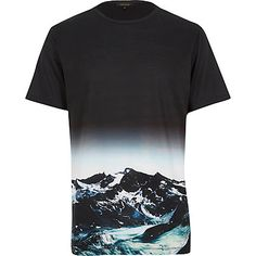 Black mountain landscape print t-shirt £18.00 - That should be mine!
