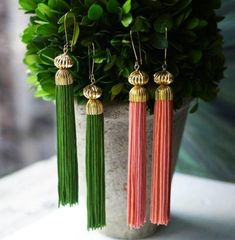 You'll get a kick out of these creative Colorful DIY Tassel Earrings.