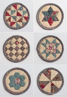 "Coasters - Patchwork ""pancakes» / Quilted «pancakes» - evening meetings"