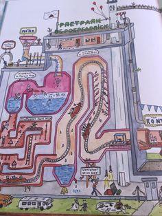 Zo ziet je poepfabriek er vanbinnen uit. Meer weten? Lees alles wat je weten wilt over een gezonde buik in het nieuwe prentenboek Pretpark de poepfabriek.
