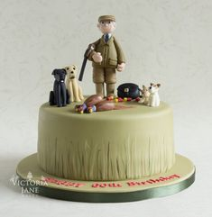 Trendy Birthday Cake For Men Country Dads Country Birthday Cakes, 30th Birthday Cakes For Men, Dad Birthday, Camo Cakes, 18th Cake, Dad Cake, Soccer Cake, Celebration Cakes, Themed Cakes