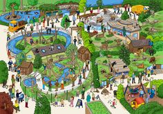 The zoo where a lot of things is going on. Zoo Pictures, Hidden Pictures, Talk 4 Writing, Spanish Practice, Classroom Games, Classroom Resources, Teaching Babies, Hollow Earth, Picture Writing Prompts