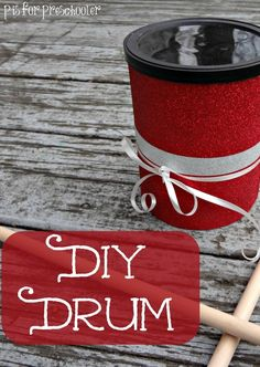 Make your own drum from the recycling bin!