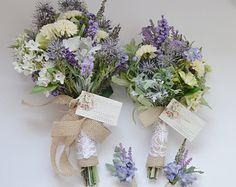 Wildflower Bouquet Lavender Bouquet Turquoise Teal Purple