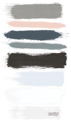 peach-color-pop-brushstrokes-color-palette-m Blue Peach, Peach Colors, Neutral Colors, Peach Color Palettes, Grey Palette, Peach Living Rooms, Living Room Grey, Color Bordo, Color Pop