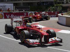 Felipe Massa and Fernando Alonso during FP3 - Monaco 2013