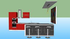 Large preview of 3D Model of Cocina apartamento