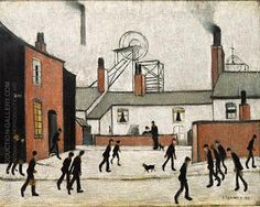 Mill Workers 1948 By L-S-Lowry