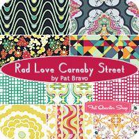 Rad Love Carnaby Street Fat Quarter Bundle Pat Bravo for Art Gallery Fabrics