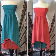 "Spotted while shopping on Poshmark: ""Reversible Strapless Dress""! #poshmark #fashion #shopping #style #Boutique #Dresses & Skirts"