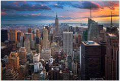 """New York New York"" by Inge Johnsson.  NEW YORK CITY SKYLINE Contest 2nd Place Winner."