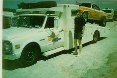 Car hauler and Camaro