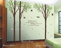 wall decal tree wall decal nursery wall decal baby by NatureStyle, $89.00