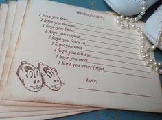 Gender neutral wish cards-baby bunny by YellowFlowerDesigns