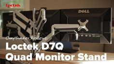 Loctek D7 Series (D7Q) Multi Arm Monitor Stand Review D7Q: http://amzn.to/28JdtrA Looking for a new monitor stand? Check out the Loctek D7 Premier series. Th...