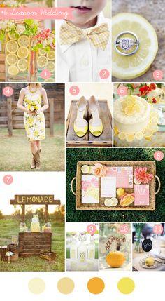 Lemon wedding inspiration board