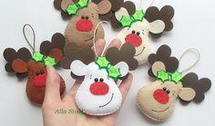 Reno de Navidad decoración de Navidad Rudolph decoración feliz