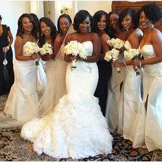 The bride and her ladies all in white  Photo via @chateaucocomar  #bride #bridal #bridalinspiration #weddings #bridesmaids #weddinginspiration #idonigeria