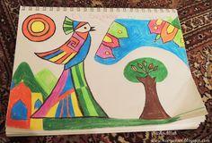 Fernando Llort inspired art - El Salvador Country Study