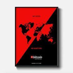 No gods No masters Bitcoin Print