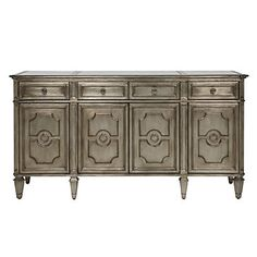 A glamorous addition to any dining room. Z Gallerie's Palais 4 Door Buffet, $1,599.00