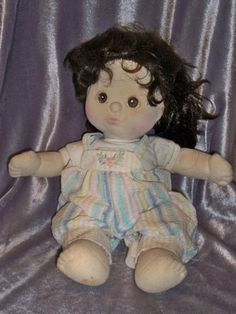 Vintage 1985 Mattel My Child Doll Brown Hair Hazel Eyes With One Outfit