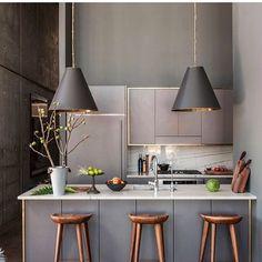 New Kitchen Interior Modern Marble Countertops 18 Ideas Home Interior, Interior Design Kitchen, Interior Modern, Apartment Interior, Interior Ideas, Modern Decor, Luxury Interior, Küchen Design, House Design