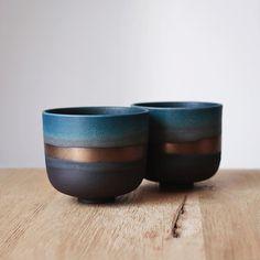 Barbara Lormelle • black porcelain small cups Ap Art, I Hope, Stoneware, Porcelain, Canning, Cool Stuff, Create, Tableware, Arizona